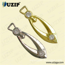 3# Silver & Gold Zipper Puller / Zip Pullers with Diamond