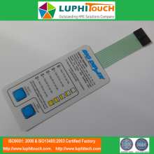 Taktila knappar LED Backlighting Membrane Switch