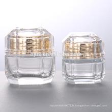 Pot de verre décoratif cosmétique de 30ml 50ml
