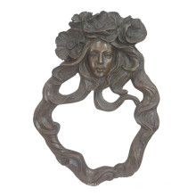 Relievo Brass Statue Lady Bust Relief Wall Deco Bronce Escultura Tpy-857