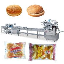 Automatische Lebensmittelverpackungsmaschine für Hamburgerbrötchen Brot