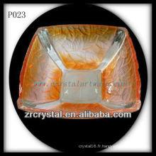 Magnifique récipient en cristal P023