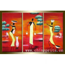 2014 Hombre pintado a mano de la sala de estar de la orden caliente sobre lienzo