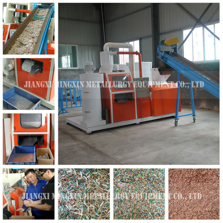 Compact copper wire granulator