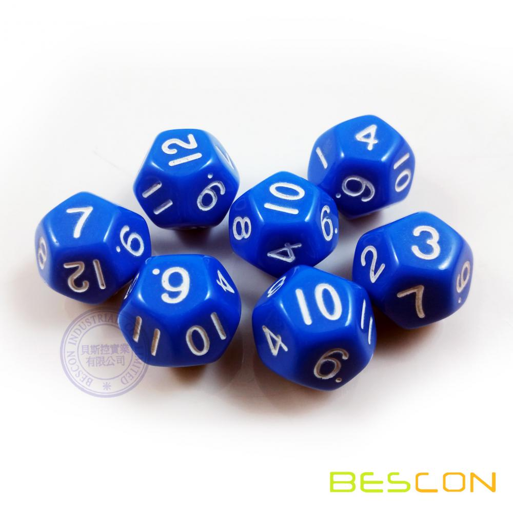 China Opaque Colorful Plastic Polyhedral 12 Sides Dice ...