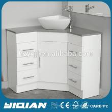Современная ванная комната Vanity High Gloss Lacquer Corner Vanity Bath Basin Sink Vanity MDF Ванная комната Угловая тщета