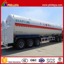 Remorque cryogénique de réservoir de GNL de transport liquide tri-essieu de BPW