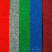 Poliéster Red Plain Velour Carpet Exposição