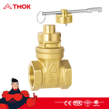 TMOK brass magnetic lock valve Hpb57-3 forged Brass water Gate Valve 1/2 inch