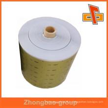 Рулоны для изготовления ламинированной пленки из алюминия с малиновой пленкой для изготовления пакетов