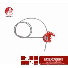 Wenzhou BAODI Bloqueo de cable ajustable universal Tagout BDS-L8611 Rojo