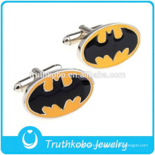 Most Popular Epoxy Unique Design Stainless Steel Batman Cufflinks High Quality 316 Stainless Steel Jewelry