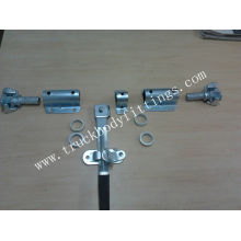 truck body rear door lock,steel/stainless/steel door bar locks