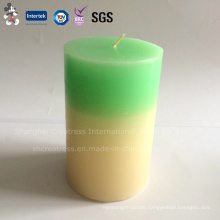 Elegant Two-Color Pillar Household Decoration Candle