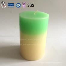 Элегантный Двухцветный Столп Домашнего Декора Свечи