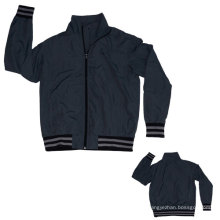 Yj-3004 Dark Grey Black Microfiber Sports Sporty Sport Jacket for Men