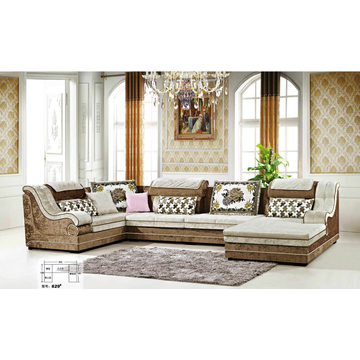 U Shape Living Room Furniture Sofa (629)