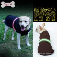 2017 Doglemi nylon fabric dog raincoat safety led dog clothes