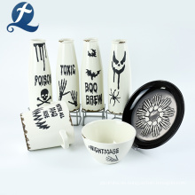 Kundenspezifische weiße Keramikgläser Gewürzvorratsglas