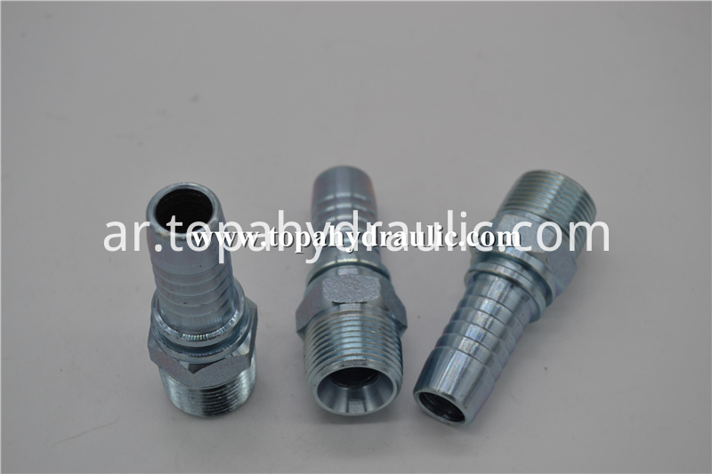pilot operated threaded reusable hydraulic fittings