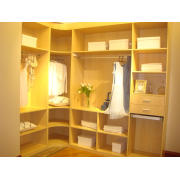 Custom Made Solid Wood Built-in Wardrobe with Sliding Door by Supplier