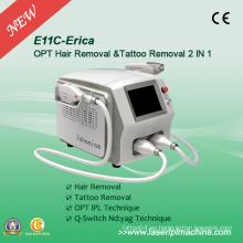 2 en 1 Sistema Opt Shr IPL y Q-Switch ND: YAG Laser E11c