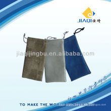 eyeglass bags in leather material with double drawstrings