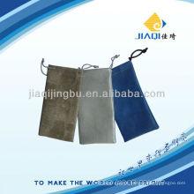 Sacos de óculos em material de couro com cordões duplos