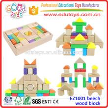 Qualität ASTM konforme Buche Holz Block für Kinder; 30 Stück / Set