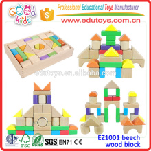 High Quality ASTM Conforms Beech Wood Block for Kids; 30 Pieces /set