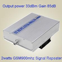 Repetidor del G / M del repetidor del teléfono móvil de la red del repetidor 900MHz de 33dBm GSM900MHz, amplificador del repetidor del G / M para el hogar