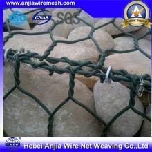 Venta caliente de PVC Gabion Caja de malla de alambre / jaulas de piedra