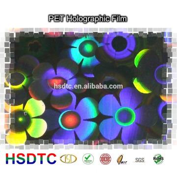 Película holográfica de PET de alto brilho PET pintada a laser