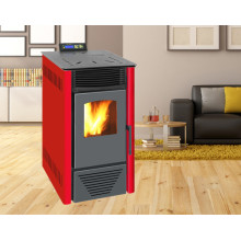 Indoor Using Auto-Ignite Pellet Stove with Remote Control Nb-PS Red
