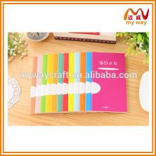 Diário da agenda do planejador do organizador de design novo 2014, artigos de papelaria coloridos da escola