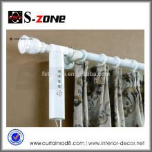 Motorisierte elektrische Vorhangschiene mit doppeltem offenem Vorhangsystem