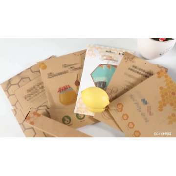 Eco Friendly Reusable Washable Custom Organic Beeswax Food Wrap Handmade Envelope Storage Packing