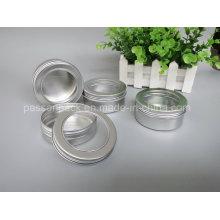 Aluminiumbehälter mit Fensterdeckel für Kerzenverpackung (PPC-ATC-013)