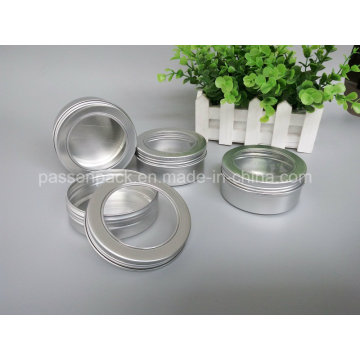 Aluminum Container with Window Lid for Candle Packaging (PPC-ATC-013)