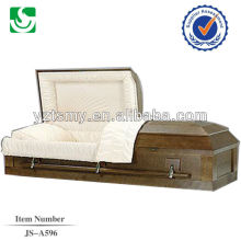 JS-A596 caixão de madeira de nogueira