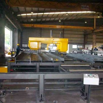 DJ1000 CNC Rotasi Angle Band Saw Machine