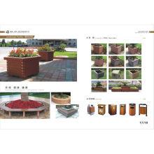 Caja de flores de alta calidad WPC al aire libre, bajo mantenimiento Caja de flores WPC