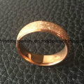 Elegant Jewelry Roll Sand on Surface Rose Gold Ring (SSR2794)