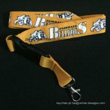 Correia grossa e larga de alta qualidade para a correia do cão com logotipo feito sob encomenda impressa
