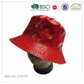 Cool Red PU Blank Bucket Hat