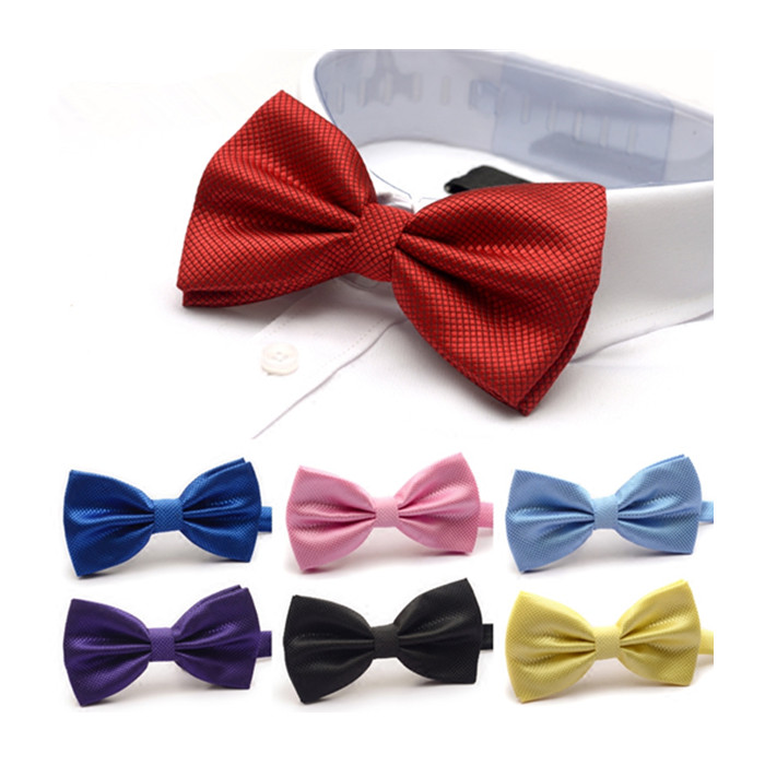 Partihandel Nice Looking Colorful satin necktie bowtie