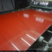 Starlight quartz, red sparkle engineered quartz stone
