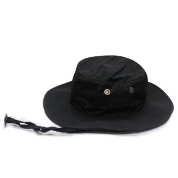 Chapéu de sarja de algodão com aba larga / curta logo design personalizado