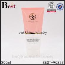 200ml gefärbtes kosmetisches Plastikschlauchdesign für Sonnencreme