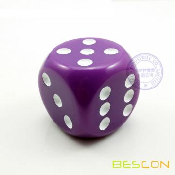 Giant Colored Plastic Dice 40MM in Round Style